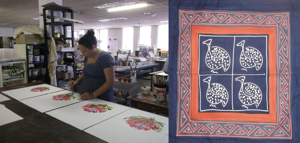 hand-painted textiles