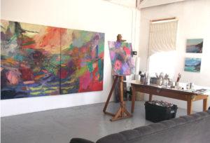 Cathy Layzell's studio