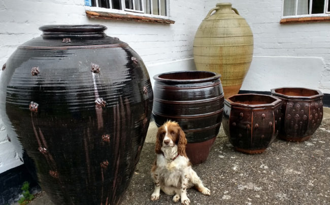 stoneware urns
