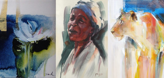 oil and acrylic paintings