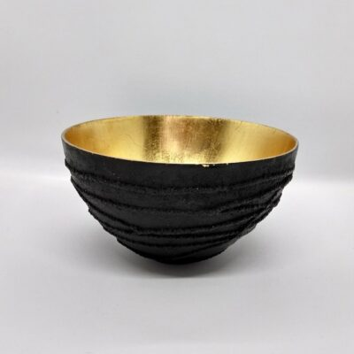 contemporary black bowl