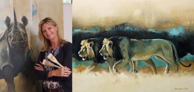 Kenyan wildlife artist