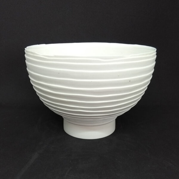 white pleated porcelain