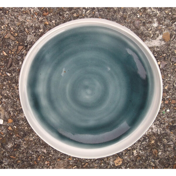 rimmed shallow bowl