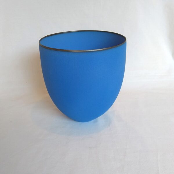 large bright blue bowl