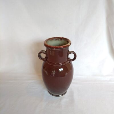 deep red pottery jar
