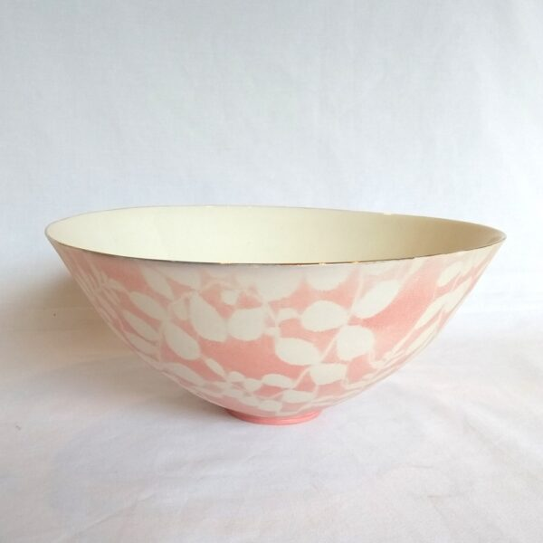 open pink bowl