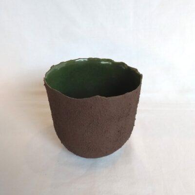 dark green pot