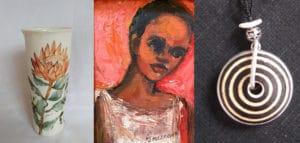 ceramics, paintings and jewellery