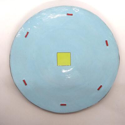 sky blue plate