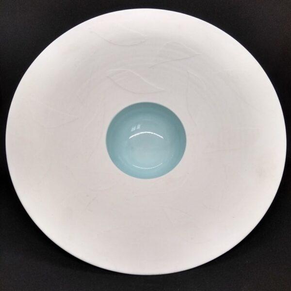 elegant white leaf bowl