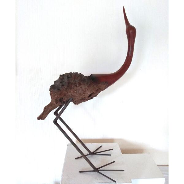 elegant bird sculpture