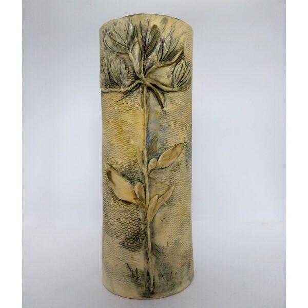 Fynbos imprinted vase