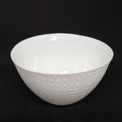 contemporary white bowl