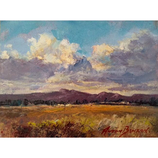 South African landscape in oils